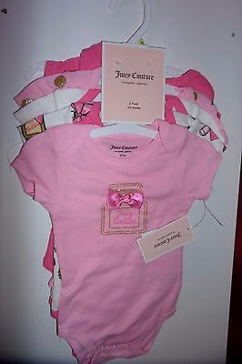 Juicy Couture Baby 5 pack Bodysuits girls 3-6 months