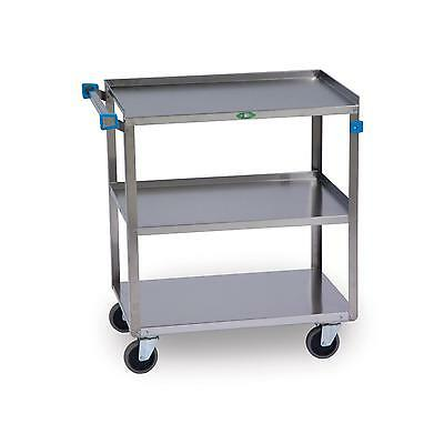 "Lakeside 19""w X 31""l S/s 3-Shelf Utility Cart W/ 500 Lb Capacity - 422"