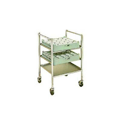 Lakeside 197 Stainless Steel Glass & Cup Rack Transport Cart
