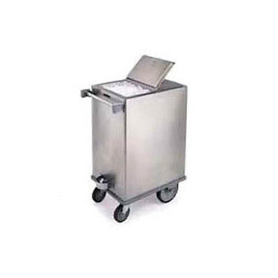 """Lakeside 240 26-7/8"""" Stainless Steel Mobile Ice Bin w/ Hinged Cover"""