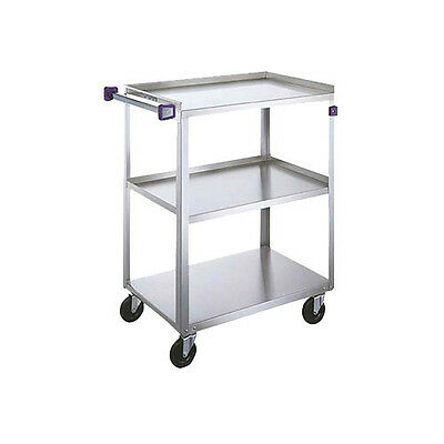 "Lakeside 311A 16-1/4""x27-1/2""x32-1/8"" 3-Tier Stainless Steel Utility Cart"