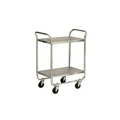 """Lakeside 473 27""""Wx17-1/2""""Dx35-3/4""""H Chrome Plated Utility Cart"""
