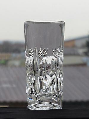 "Brierley Hill Crystal ""cross & Hollow"" Pattern Highball Tumbler"