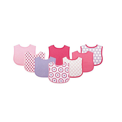 Luvable Friends 8 colorful printed baby Drooler bibs