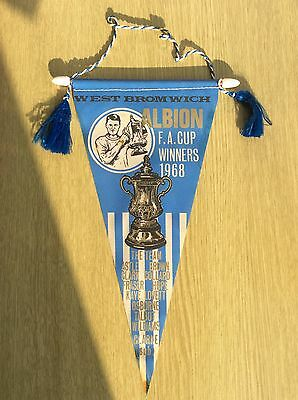 WEST BROMWICH ALBION - FA Cup Winners VINTAGE 1968 Pennant