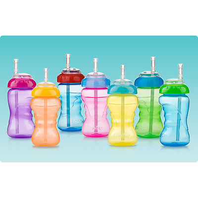 Nuby® No-Spill™ Cup with Flex Straw │ Toddler Straw Sippy Cup