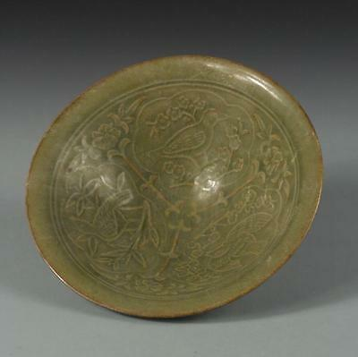 Chinese Song Yaozhou kiln carved hats bowl