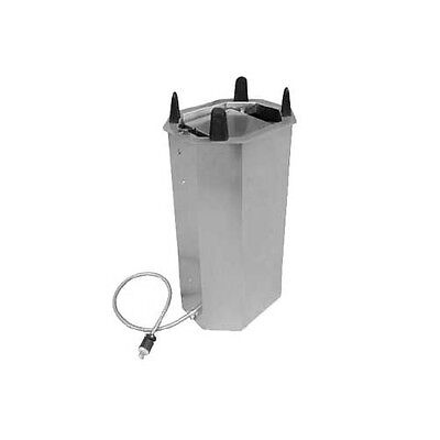 """Lakeside V6014 9-3/4"""" to 14-1/2"""" Heated Frame Drop-in Oval Dish Dispenser"""