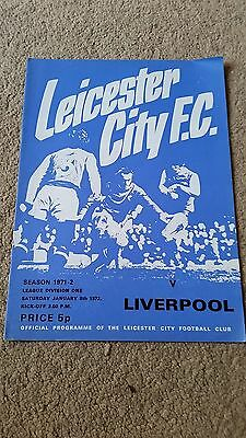 Leicester City V Liverpool 1971/72
