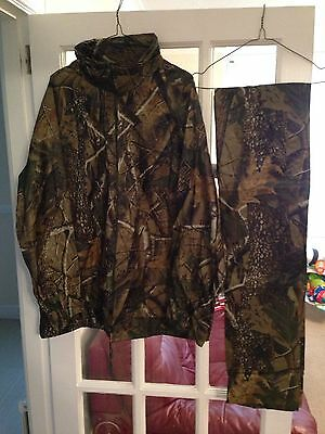 Realtree Camo Waterproof Jacket & Trousers Carp Fishing Hunting New Size Large