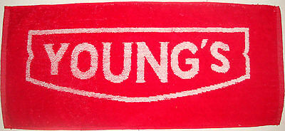 YOUNG'S ALE, ESTd. 1831 -  BEER PUB BAR TOWEL NEW OLD STOCK