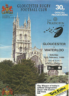 GLOUCESTER RUGBY UNION CUP PROGRAMMES - 3 x HOMES 1980's