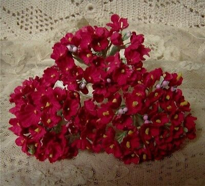 1  Bouquet Vintage Millinery Forget Me Nots Red -
