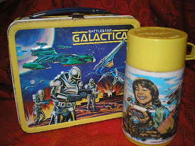 Collectible Vintage 1978 Battlestar Galactica Lunch Box with Thermos