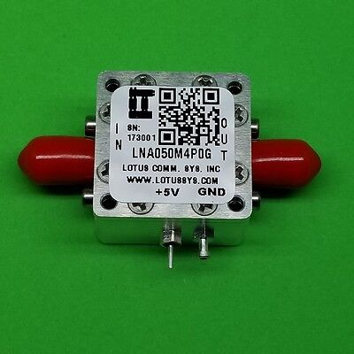 50MHz to 4000MHz Low Noise Amplifier (LNA) with Ultra Low Noise Figure
