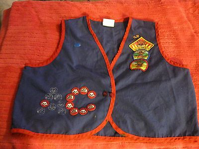 OFFICIAL AWANA CUBBIES VEST Blue and Red with patches Childs XXL