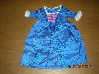 American Girl - Felicity's Blue Satin Christmas Gown