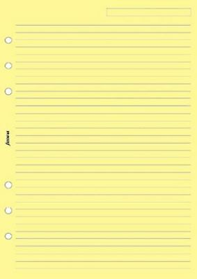 Filofax A5 Yellow Ruled Notepaper- 25 sheets - B343010
