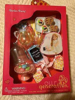 """Our Generation Garden Party 18"""" Doll American Girl Size Lemonade Pitcher Treats"""