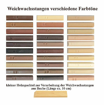(EUR 19,33/100g) 15 Grams Soft wax,Wax putty sticks,different shades of colors