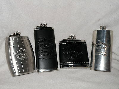 Lot of 4 Jack Daniel's Tennessee Whiskey Flasks Including Desirable Sheffield UK