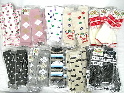 Baby Toddler Leg Warmers Fair Isle, Nordic, Flowered, Polka Dot ~US SELLER~New~