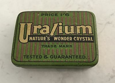 Uralium Tin Box - must addition for collectors of tins or Crystal Set Radios