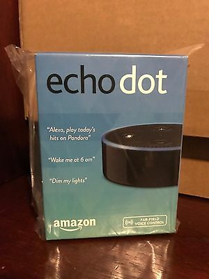 Amazon Echo Dot 2nd Generation w/ Alexa Voice Media Device - Black - BRAND NEW!!