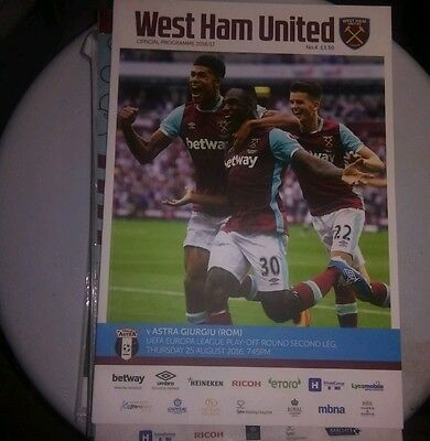 West ham United v fc astra
