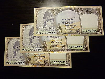 Nepal 500 Rupee 2002 perfect UNC COLLECTIBLE!