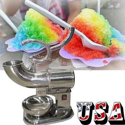 USA Ice Shaver Machine Sno Snow Cone Maker Shaved Icee Electric Crusher COOL NEW