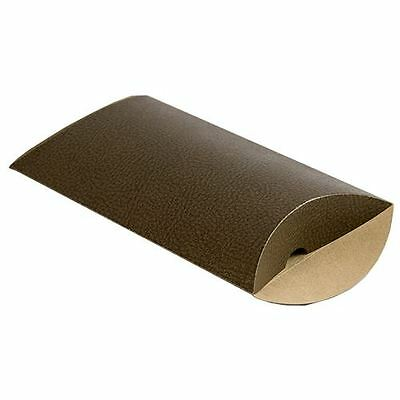"Pillow Boxes - Brown Leather - 6"" Wide - 200 per pack"