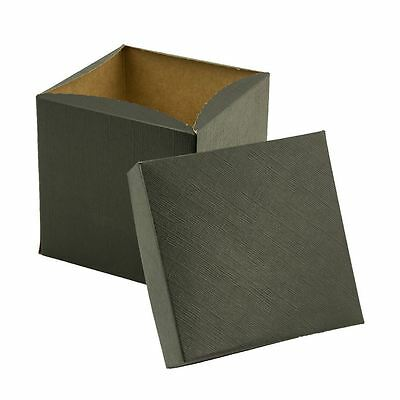 "5"" Black Gift Box - 2 Piece - 100 pack"