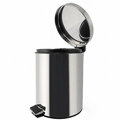 Stainless Steel Trash Can - Step Trash and Recycling Bin