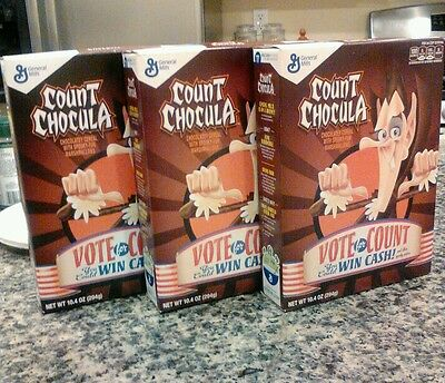Monsters Cereals 2016 3x Pack Count Chocula 10.4 oz
