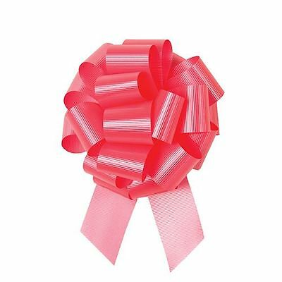 "5-1/2"" Coral Perfect Pull Bow with Grosgrain textured finish 50/ctn"