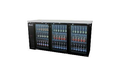 "Migali 72"" 3 Glass Door Back Bar Cooler - C-Bb72G"
