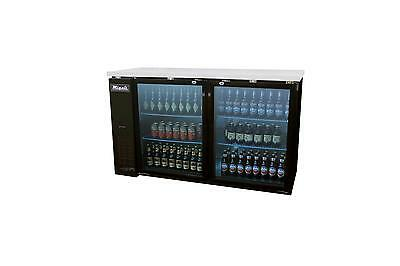 "Migali 60"" 2 Glass Door Back Bar Cooler - C-Bb60G"