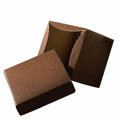 "4"" Brown Gift Box - 2 Piece - 200 pack"