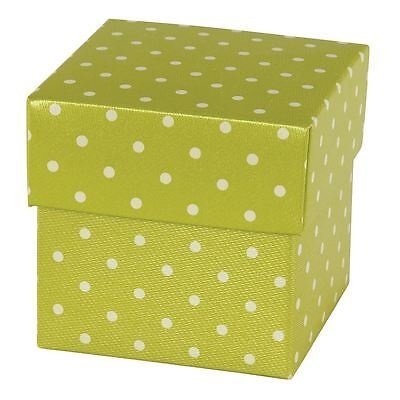 "Silk Embossed 2"" Favor Box - White Dots on Mint - 200 per pack"