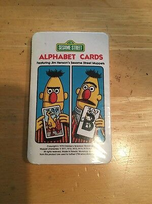 Vtg 1978 Sesame Street See & Know Alphabet Flash Cards Muppets Whitman Sealed