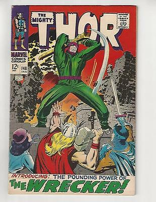 The Mighty Thor #148/Marvel Comic Book/1st Wrecker/VF+