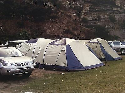 Oztrail Sportiva Odyssey 3 Room Double Dome Family Tent - As New