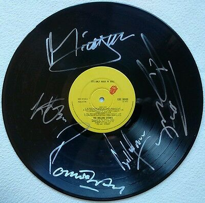 The Rolling Stones All Members It's Only Rock 'n' Roll Coa+Lp Signed Autographed
