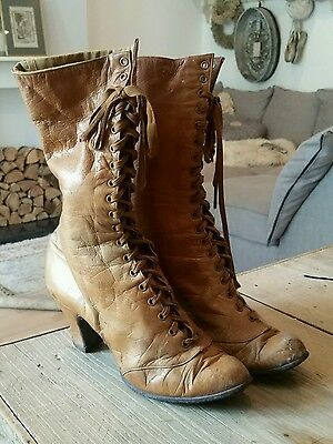 antique victorian French boots collectable
