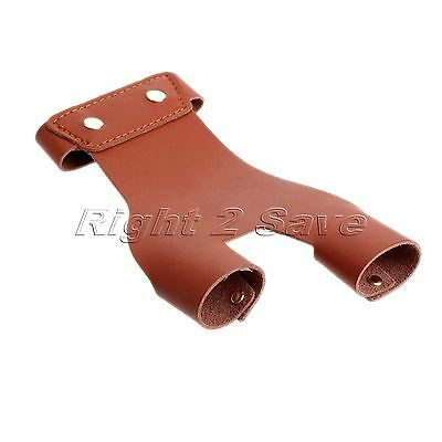 1PC Cow Leather Bow String 2 Finger Tab Protector Guard Archery Hunting Shooting