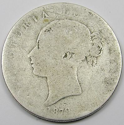 QUEEN VICTORIA YOUNG HEAD SILVER HALF- CROWN COIN dated 1879