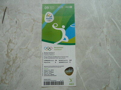 Used Ticket Olympic Games 2016 Olympia A13 Basketball Lithuania Nigeria