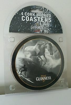 GUINNESS Set of 4 Corked Backed Coasters