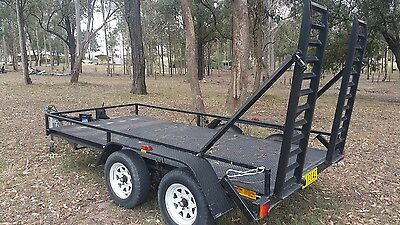 Tandem Plant Trailer with Ramps for Bobcat or Excavator